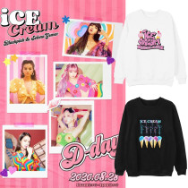 Kpop Blackpink Sweater New Song Ice Cream Round Neck Sweatshirt Loose Sweatshirt JENNIE LISA ROSE JISOO