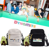 Kpop BTS Shoulder Bag Bangtan Boys Shoulder Bag  DYNAMITE Cartoon Cute Canvas Bag Messenger Bag