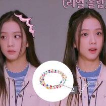 Kpop Blackpink Bracelet JISOO Crystal Bracelet Necklace Bracelet JISOO