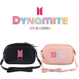 Kpop BTS Shoulder Bag Bangtan Boys New Album Dynamite Crossbody PU Small Square Bag