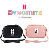 Kpop BTS Shoulder Bag Bangtan Boys New Album DynamitePU Crossbody Small Square Bag