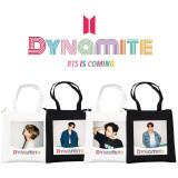 Kpop BTS Shoulder Bag Bangtan Boys New Album Dynamite Trailer Photos Tote Bag Storage Bag