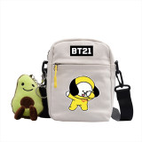 Kpop BTS Shoulder Bag Bangtan Boys SWAG Series Crossbody Bag Canvas Small Square Bag