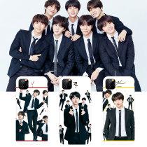 Kpop BTS Phone Case Bangtan Boys Mobile Phone Case Suitable for Apple iphoneXS/XR/11 Anti-drop Hard Shell Protective Cover