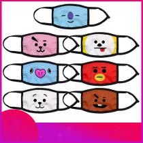 Kpop BTS Mask Bangtan Boys Ice Silk Mask Digital Printing 3D Dust Mask CHIMMY COOKY KOYA TATA