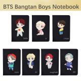 Kpop BTS Notebook Bangtan Boys CHARACTER Notebook Notepad Scrub Diary V SUGA JIN JIMIN