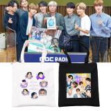 Kpop BTS Shoulder Bag Bangtan Boys Dynamite Commemorative Edition HOT100 Shoulder Bag Canvas Bag Portable Storage Bag