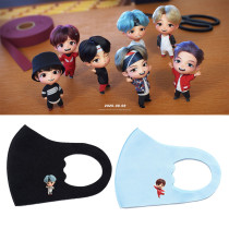 Kpop BTS Mask Bangtan Boys TinyTAN Cartoon Q Version Ice Silk Children Mask Windproof Dustproof Breathable Face Mask