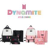 Kpop BTS 4Pc/Set Backpack Bangtan Boys Album Dynamite Backpack Messenger Bag Handbag