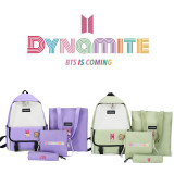 BTS 4Pc/Set Backpack Bangtan Boys Album Dynamite Backpack Messenger Bag Handbag V SUGA JIN JIMIN