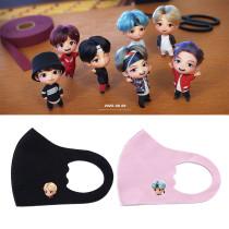 Kpop BTS Mask Bangtan Boys TinyTAN Ice Silk Children's Printed Mask Windproof Dustproof Ice Silk Breathable Face Mask