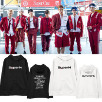 Kpop Super M Sweater Hooded Sweater Pullover Jacket Plus Velvet Thin Loose Wild Couple Sweatshirt