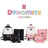 Kpop BTS 4Pc/Set Backpack Bangtan Boys Album Dynamite Backpack School Bag Messenger Bag Handbag