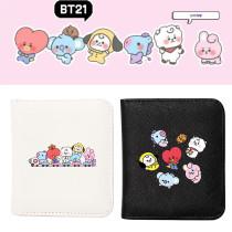 Kpop BTS Wallet Bangtan Boys Wallet Baby Series Cartoon Cute Short Wallet Storage Card Case Coin Case