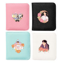 Kpop BTS Wallet Bangtan Boys Wallet Hand-painted Characters Print Short Wallet Storage Card Case Four-color Coin Case