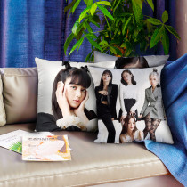 Kpop BLACKPINK Pillow Case ELLE October Issue Cushion Digital Printing 3D Single Pillow Cushion Cushion