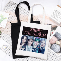 Kpop BLACKPINK Canvas Bag New Album The Album Canvas Bag Handbag Shoulder Bag Storage Bag