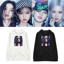 Kpop BLACKPINK Sweater New Album The Album Hooded Sweater and Fleece Sweatshirt JENNIE LISA ROSE JISOO