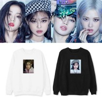 Kpop BLACKPINK Sweater New Album The Album Round Neck Sweatshirt Thin Sweatshirt JENNIE JISOO LISA ROSE