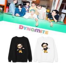 Kpop BTS Sweater Bangtan Boys Dynamite Round Neck Sweatshirt Pullover Jacket Fashion Casual Loose Thin Sweatshirt