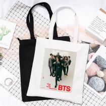 Kpop BTS Canvas Bangtan Boys 2020 Magazine Pictorial Canvas Bag Handbag Shoulder Bag Wild Storage Bag