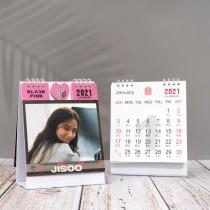 Kpop BTS Desk Calendar Bangtan Boys 2021 Desk Calendar BLACKPINK Vertical Calendar Desktop Decoration