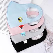 Kpop BTS Mask Bangtan Boys SWAG Children Mask Cartoon Cute Ice Silk Protective Mask Chimmy Cooky Koya Tata