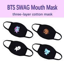 Kpop BTS Mask Bangtan Boys SWAG Mask Three-layer Cotton Face Mask Dustproof Windproof Protective Mask