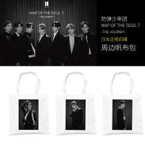 Kpop BTS Canvas Bag Bangtan Boys Japan 4th Series MAP OF THE SOUL7 Canvas Storage Bag Handbag Shoulder Bag