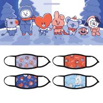 Kpop BTS Mask Bangtan Boys Mask Digital Printing 3D Adult Face Mask Ice Silk Breathable Dustproof Lightweight Mask