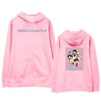 Kpop BTS Sweater Bangtan Boys TinyTAN Hooded Sweatshirt Pullover Jacket Plus Velvet Thin Sweatshirt