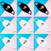 Kpop BTS Mask Bangtan Boys Mask Cartoon Cute Doll Double Cotton Mask V SUGA JIN JIMIN