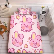 Kpop 3Pc/Set BTS Sheet Bangtan Boys Cartoon Cute Sheet 3D Digital Printing Quilt Cover 1.5m Bedding