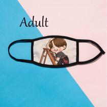 Kpop BTS Mask Bangtan Boys Run Mask 3D Digital Printing Adult Ice Silk Mask V SUGA JIN JIMIN