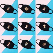 Kpop BTS Mask Bangtan Boys Run Mask Cartoon three-layer Cotton Face Mask Windproof and Warm
