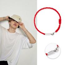 Kpop BTS Bracelet Bangtan Boys JIMIN Red Bracelet Lucky Rope Hand-woven Bracelet