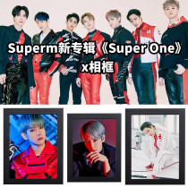 Kpop SuperM Photo Frame Album SUPER ONE Comeback Photo Photo Frame Bedroom Living Room Solid Wood Decoration
