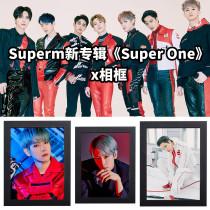 Kpop SuperM Photo Frame Album SUPER ONE Comeback Photo Photo Frame Bedroom Living Room Solid Wood Decoration