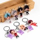 Kpop BTS Keychain Bangtan Boys TinyTAN Keychain Q Version Cartoon Acrylic Pendant Keychain Student Gift