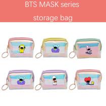 Kpop BTS Pencil Case Bangtan Boys MASK Series Wallet Laser Storage Bag Card Case Pencil Case