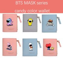 Kpop BTS Wallet Bangtan Boys MASK Series Short Style Fresh Wallet Cute Wallet Storage Coin Purse