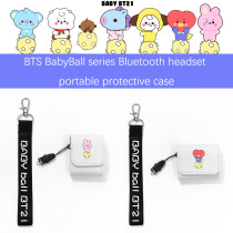 Kpop BTS Storage Box Bangtan Boys BabyBall Series Storage Box Bluetooth Headset Cute Cartoon Portable Protective Case