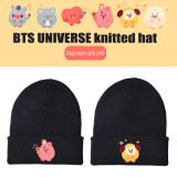 Kpop BTS Knitted Hat Bangtan Boys UNIVERSE Warm Woolen Hat Knitted Hat CHIMMY COOKY TATA