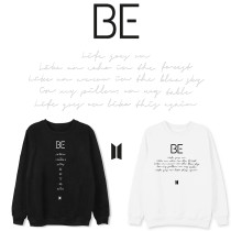 Kpop BTS Sweatshirt Bangtan Boys Round neck sweater New Album BE LIFE GOES ON Warm Round neck sweater
