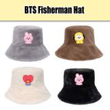 Kpop BTS Fisherman Hat Bangtan Boys Baby Fisherman Hat Cold Protection Warm Hat CHIMMY COOKY KOYA TATA