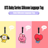 Kpop BTS Checked Tag Bangtan Boys Baby Series Cartoon Silicone Baggage Tag Registration Checked Tag