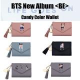 Kpop BTS Wallet Bangtan Boys New Album BE Cute Tassel Short Folding Coin Purse