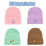 Kpop BTS Knitted Hat Bangtan Boys Baby Series Knitted Hat Woolen Hat Warm Multicolor Hat Casual