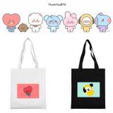 Kpop BTS Canvas Bag Bangtan Boys Canvas Bag Baby Series Shoulder Handbag CHIMMY COOKY KOYA TATA