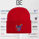 Kpop BTS Knitted hat Bangtan Boys New Album BE Knitted Hat Warm Woolen Hat CHIMMY RJ MANG TATA